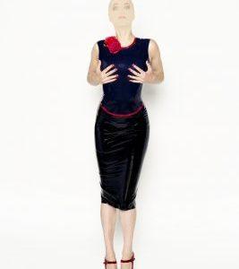 Latex, Top, Pencil, Skirt, jurk, erotiek, Den Bosch